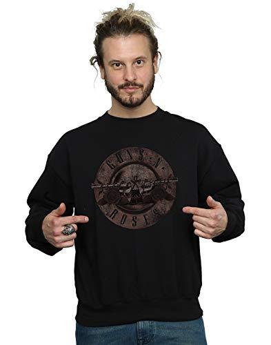Absolute Cult Guns N Roses Herren Sepia Bullet Logo Sweatshirt Schwarz X-Large -