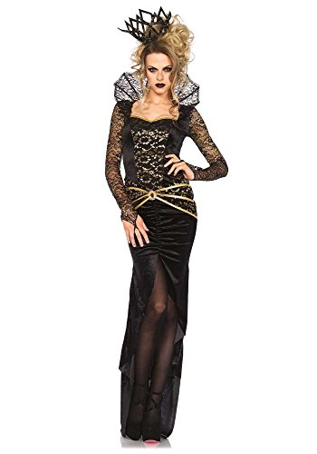 Deluxe Avenue Kostüm Leg - Leg Avenue Damen Kostüm Deluxe Evil Queen, Größe:M