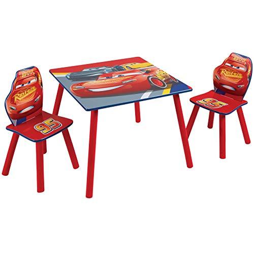Disney Cars-Tavolo per Bambini con 2 sedie, One Size
