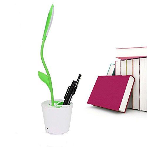 Gebogene Ebene (Leselampe, TKSTAR USB Wiederaufladbare Tischlampe Care Schreibtischlampe Reading lamp für Kinder 360 °flexible Tischleuchte mit Stifthalter Steuerung berührungsempfindliche 3 Stufen dimmbare für Home Office)