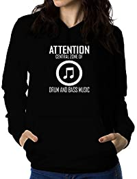 Teeburon Attention Central Zone of Drum And Bass Music Sudadera con capucha para mujer