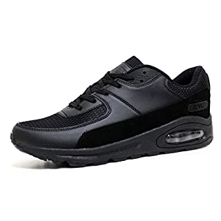 Mens Legacy Air Bubble Max 90 Running Trainers Airtech Fitness Sports Gym Shoes Size 7 8 9 10 11 12 (11 UK, Black / Black)