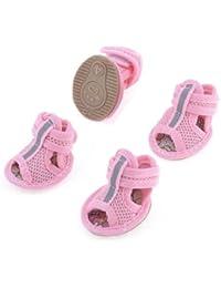 2 pares rubberen Zool Rosa Malla Sandalias Yorkie Chihuaha schoenen Maat M