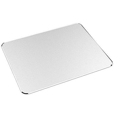 Gaming Mauspad, Nulaxy Aluminium Mouse Pad Matte W rutschfeste Gummi-Basis & Micro Sand Strahlen Aluminium wasserdichte Oberfläche für schnelle und präzise Kontrolle (Silber)