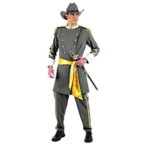 Elbenwald Batman–Kostüm Südstaaten–Kostüm für Karneval oder Mottoparty–Uniform mit Jacke, Hose, Hut und ()