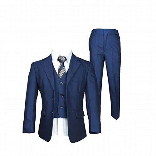 YYI Jungen Zwei Tasten Anzug Formale Hochzeit Pageboy Party Prom 3 Stück Anzug - Taste Tan Kleid Anzug