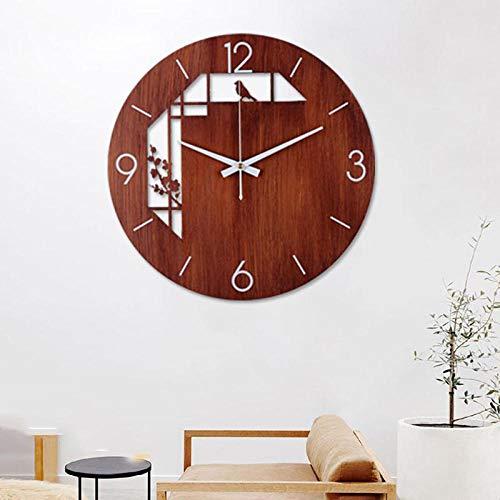 Schlichte Nordic Design Minimal Quarz,Atmosphärische kreative Moderne Hauptuhr, personalisierte unbedeutende Wanduhr @ Gold Circle_45cm,Wanduhr mit Sekundenzeiger - Wand-uhr Personalisierte