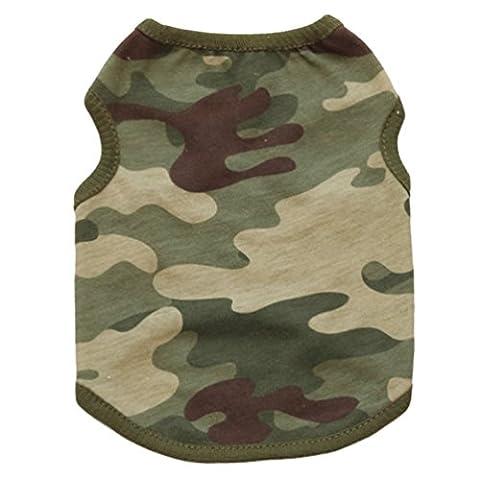 YiJee Camouflage Gilet Vêtements pour Chien Animaux Respirant T-shirt Costume pour Chiot Comme image2