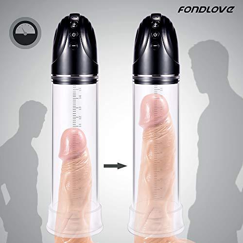 Fondlove Elektrisch Penispumpen Vakuumpumpe Penis Erektion Penisvergrößerung für Männer Sexspielzeug
