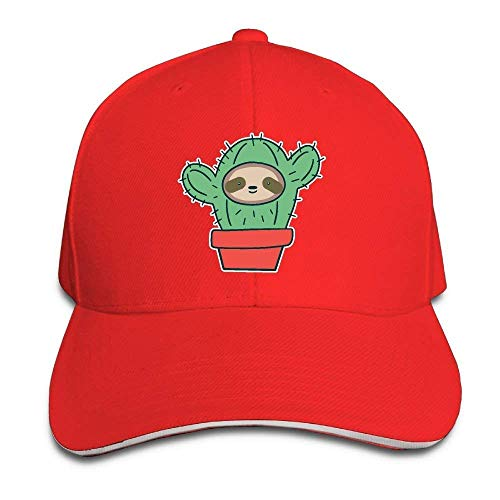 Preisvergleich Produktbild WBinHua Hüte caps Sloth Face Cactus Adult Adjustable Snapback Hats Trucker Cap Unisex