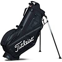 Titleist Players 4 Golf Standbag - Ultra leicht - Double to Single Gurtsystem (Schwarz)