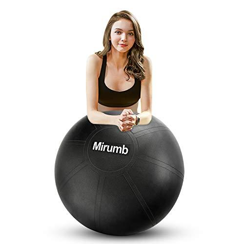 Mirumb Palla Pilates, Fitness Palla con Pompa Pilates Ball Anti-Scoppio 75CM 65CM 55CM Palla da Ginnastica per Yoga, Gravidanza, Ufficio, Sedia per Equilibrio, Fitness