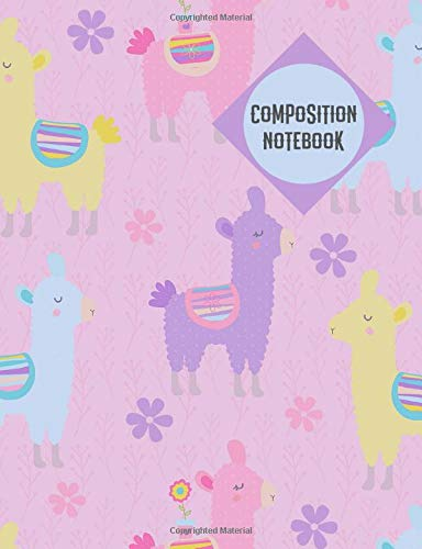 Composition Notebook: Llama Notebook College Ruled Journal - Back to School Gift For Students Teachers Teens Girls 100 sheets - Add On Item