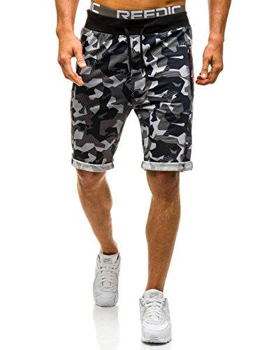 BOLF-Hombre-Pantalones-Cortos-Camuflaje-RED-FIREBALL-1601-Gris-M-7G7