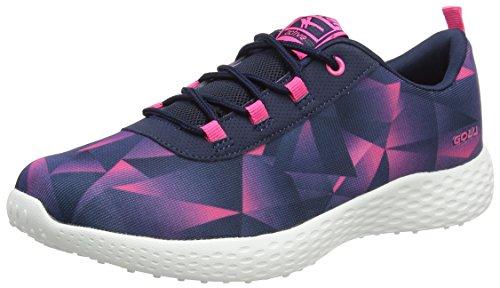 Gola Damen Izzu Hallenschuhe Blau (Navy/hot Pink/navy)