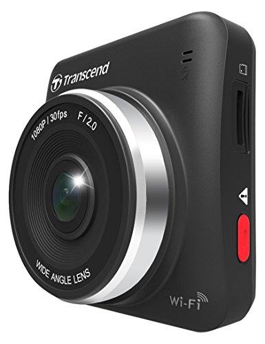 Transcend TS32GDP200A DrivePro 200 Full-HD Autokamera (6,1 cm (2,4 Zoll) Farbdisplay, inkl. 32GB microSDHC Speicherkarte MLC, WiFi-Funktion) schwarz