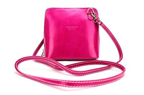 Vera Pelle, Borsa a tracolla donna Green small Pink