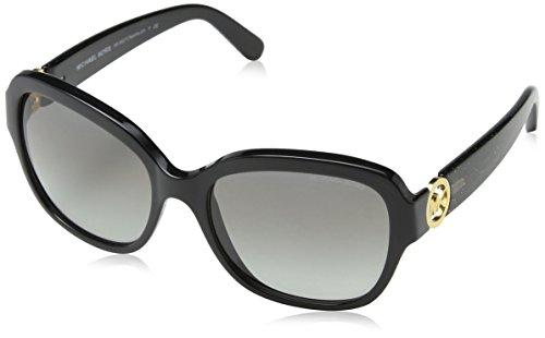 Michael Kors Unisex Sonnenbrille MK6027 Tabitha III, Gr. One size (Herstellergröße: 55), Schwarz (Black 309911)