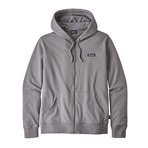Patagonia M's P 6 Label LW Full Zip Hoody Chaqueta, Hombre, Feather Grey, L