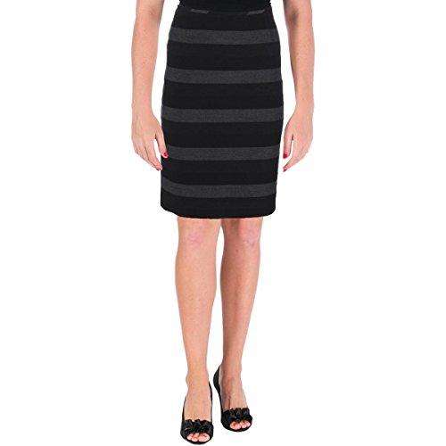 Tahari Women's Woven Striped Pencil Skirt - Multi - Black/Grey