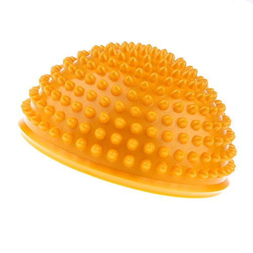 Homyl 1 Stück Mini Balance Igel / Gymnastik Igel / Igelball ideal für Kinder Kinder Und Erwachsene / Durchmesser: 16cm - Gelb