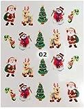 Nailart Weihnachts- Sticker NOSTALGIE - Motiv 02 Rudolph
