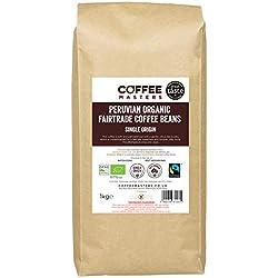 Coffee Masters Granos de Café Peruano Orgánico Fairtrade 1kg - Ganador del Great Taste 2018