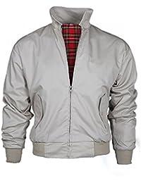 Warrior Harrington Jacket Coat Mod Tartan Check Stone XLarge