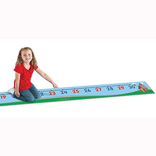 Learning Resources - Alfombra infantil con línea de números del 1 al 30
