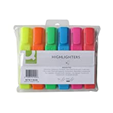 Q-Connect Highlighter Pens KF01909 - Assorted Colours, Pack of 6