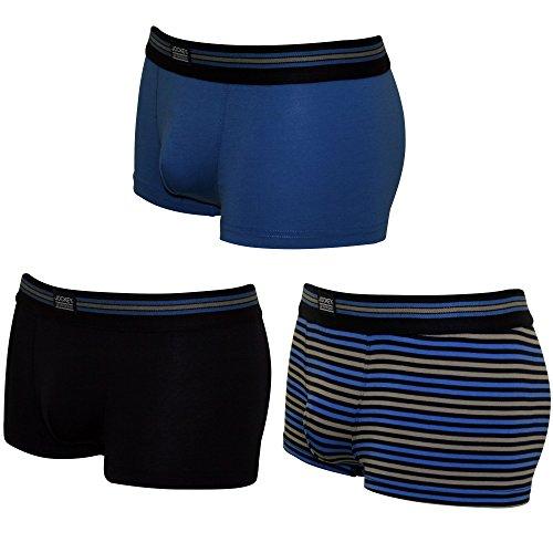 Jockey® Short Trunk 3Pack Marine/blau/Streifen