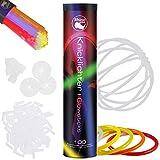 Rhino resplandor de los palillos del resplandor , 100 Party Set glowsticks palos de luz del palillo del resplandor 5 colores Set + conector