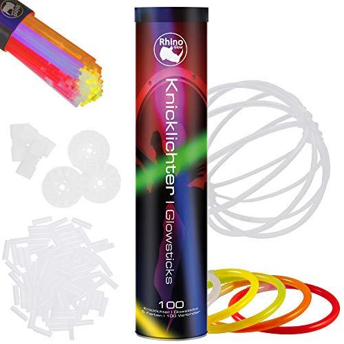 kit per creare occhiali una fascia braccialetti tripli fiori una palla luminosa e altro! Pacco di 100 Barre Luminose per Party orecchini Hotlite collane 8 braccialetti extra