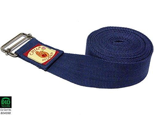 Sangle 100% Coton Bio Boucle Rectangulaire - Bleu