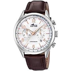 Lotus Watches Homme Chronographe Quartz Montre avec Bracelet en Cuir 18557/1