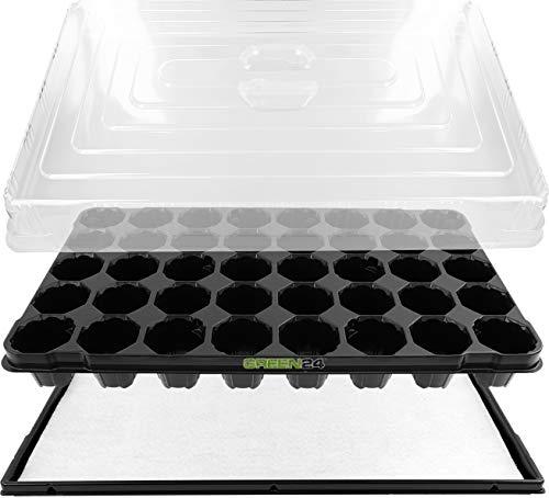 GREEN24 Anzuchthaus PROFI-40 Zimmer-Gewächshaus Hydroponik XL, automatische Bewässerung für die...