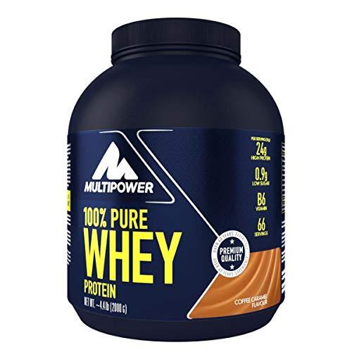 Multipower 100{841d74b57e59500b299b31ea9ec32fa6ee4752751a2bdff926d4ce28f6727190} Pure Whey Protein - wasserlösliches Proteinpulver mit Coffee Caramel Geschmack -  Eiweißpulver mit Whey Isolate als Hauptquelle - Vitamin B6 und hohem BCAA-Anteil - 2 kg