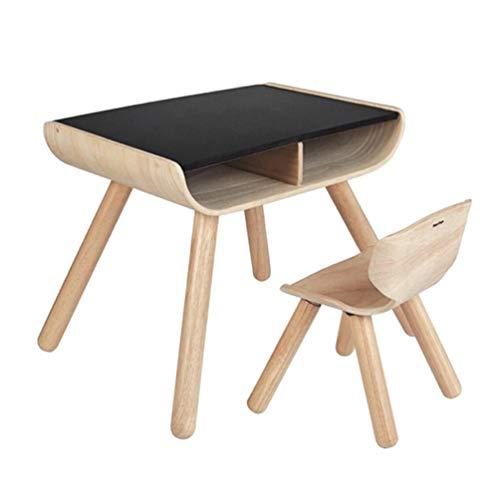 Tische Kindermöbel Kinder Schreibtisch (Kindermöbel Sets, Kinderspieltisch Kreative Einfache Spielzeug Kleinen Tisch Kinder Schreibtisch Holztisch Und Stuhl Set Für Kleinkinder Und Vorschulkinder, Mit Lagerung Und Verstellbaren Beinen Als E)