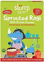 Slurrp Farm Organic Sprouted Ragi Powder | Instant Healthy Wholesome Food, 250 G