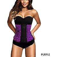 Yuver (TM) in acciaio disossato corsetto di Underbust shapewear femminile in gomma della vita del (Viola Corsetto)