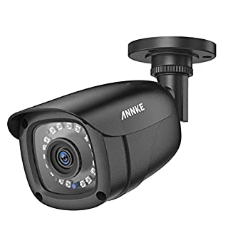 ANNKE 1080P Hi-Resolution Home Security Camera System, IP66 Weatherproof Video Surveillance Camera, Long Distance Night Vision TVI/CVI/AHD/CVBS All-In-One Bullet Security Camera