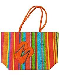 Samyawoven Bag Oversize Multi Color Canvas Shoulder Bag Handbag Unique Tote Quilt Vintage Beach Travel Summer