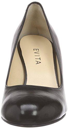Nero 10 Evita Donna Pump schwarz Col Tacco Shoes Scarpe Schwarz Rw4Yw1qz