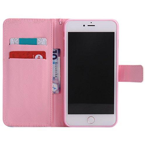 PU iPhone 7 Plus (5.5 pouces) Motif Imprimé Étui Housse en Cuir Ultra-mince Fermeture Aimantée Housse de Protection Coque pour Apple iPhone 7 Plus (5.5 pouces) Étui Case Cover avec Stand Support (+Bouchons de poussière) (10EE)