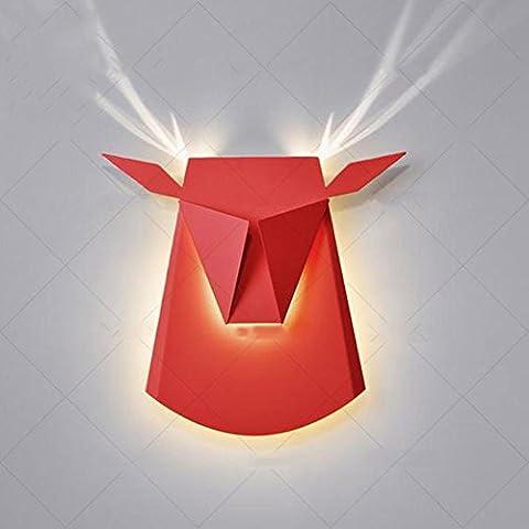 ZWW Lampe murale à tête de cerf créative Salle de séjour nordique Chambre à couteau Eclairage moderne Lampe à lit Lampadaire , G