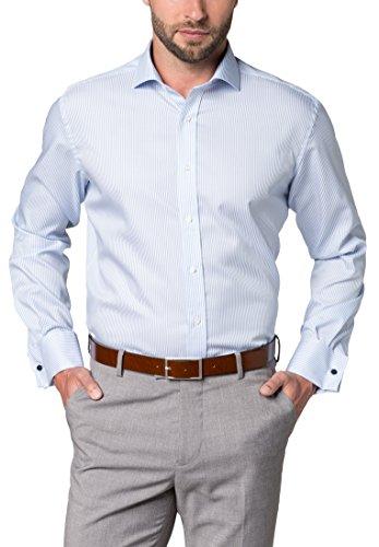 eterna Langarm Hemd Modern Fit Twill Gestreift