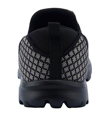 Santiro Chaussures de la Femme Mesh Upper Low-Top Formateur Chaussures. Noir