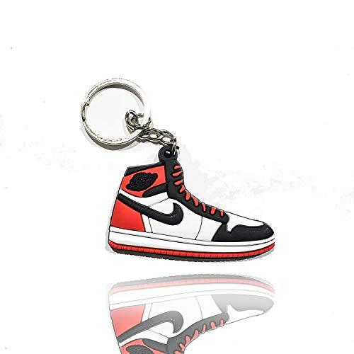 ProProCo Sneaker Schlüsselanhänger Jordn Air Nik Schlüsselanhänger Jordn 1 Schuh anhänger Fashion für Sneakerheads,Hype-Beasts Nik-e Supreme Palace (Bred Toe) (Schlüsselband Nike)