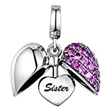 LSDesigns Unisex Kinder Damen - Sterling-Silber 925 Sterling-Silber 925 Purple zirkonia
