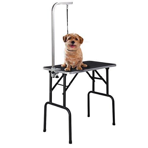 COSTWAY Trimmtisch Schertische Hundepflege Tisch Pflegetisch für Hunde Katze - Pet Arm Groomer